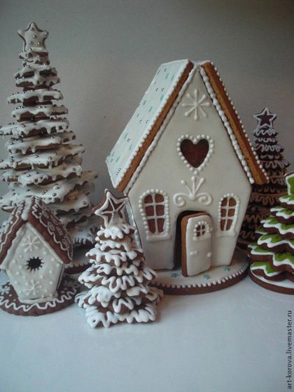 Gingerbread House Ideas & Inspiration #gingerbreadhouse #christmas #whitechristmas