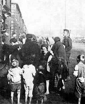 Polish Jews Boarding Transport for Treblinka  Death camp