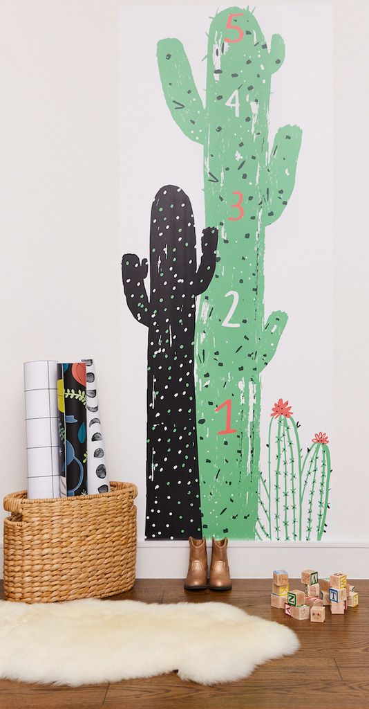 Loving this cool peel-and-stick growth chart by NY illustrator Jordan Sondler for Chasing Paper.: