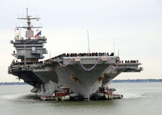 NORFOLK (Nov. 4, 2012) The aircraft carrier USS Enterprise (CVN 65) arrives at…