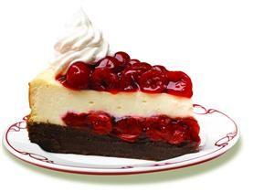 LuckyLeaf - Cherry Chocolate-Brownie Cheesecake - oh my!