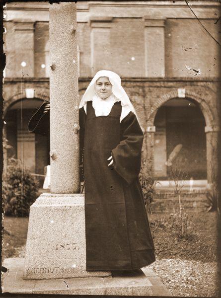 sainte-Therese-de-Lisieux as a novice at the Lisieux Carmel