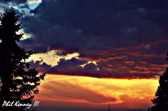 Multicolored sunset