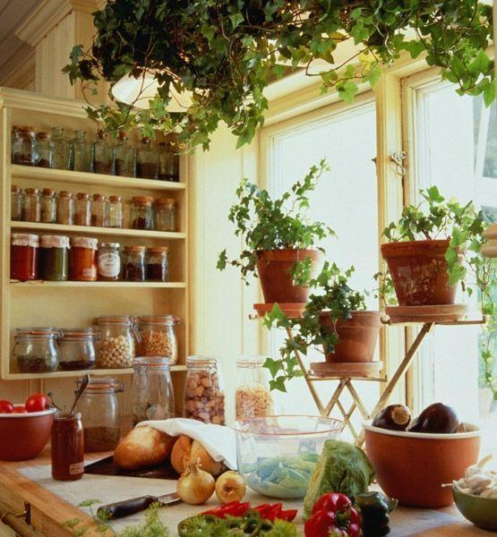 北欧風インテリア緑のキッチン