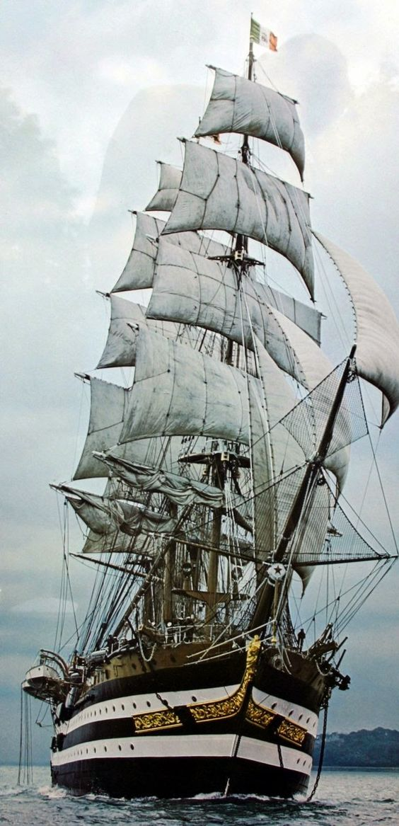 Sailing Ship Amerigo Vespucci Italian Training Ship: