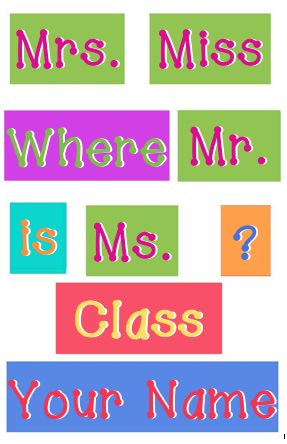 Creative Elementary School Counselor: Where Is The Classroom door sign