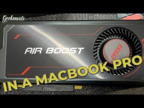 Macbook Pro Razer Core X Egpu Msi Radeon Rx Vega 64 Gpu Macbook Pro Macbook Razer