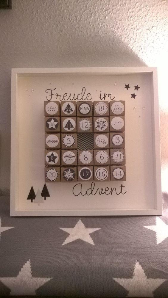 adventskalender stampin up etiketten gefunden bei stampin up mini. Black Bedroom Furniture Sets. Home Design Ideas