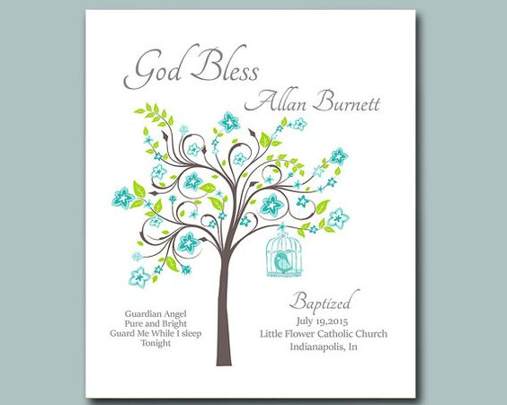 Baptism Gift from Godparents Christening by MoonlightGraphics