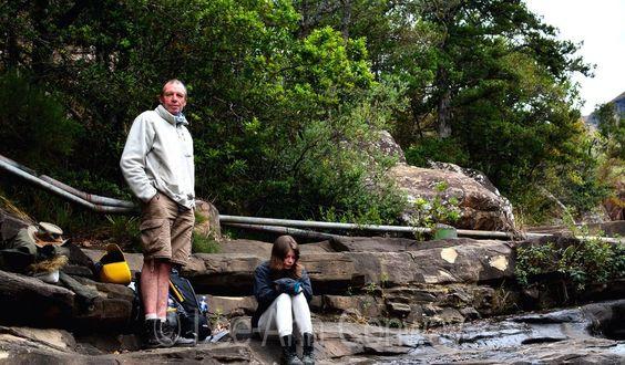 Tea time at the cascades near Mahai campsite