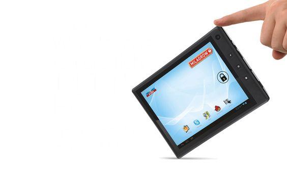 """La Tabtop tiene una pantalla de 7"""" y es realmente fácil de sostener con una mano."""