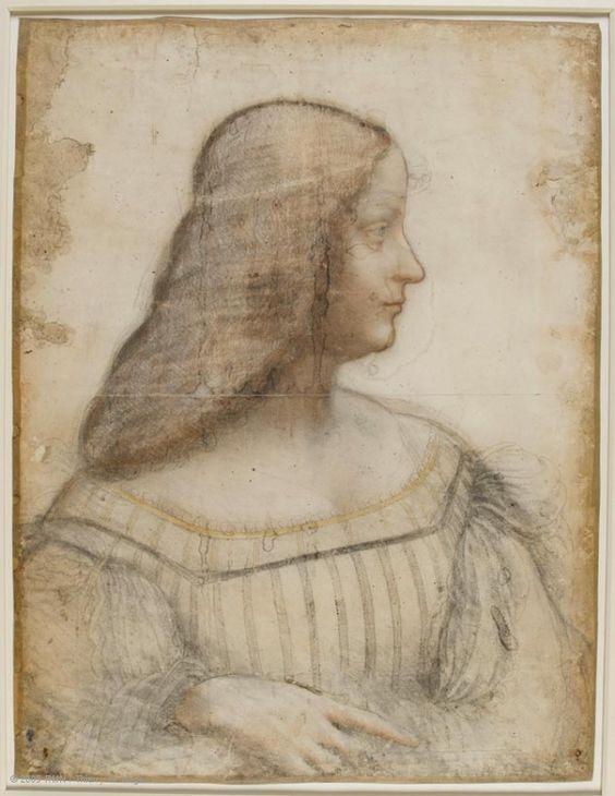 Leonard de Vinci portrait de femme