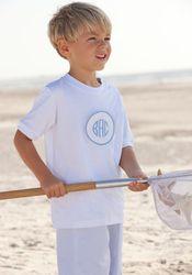 Knit Boys monogrammed Tab Tshirt