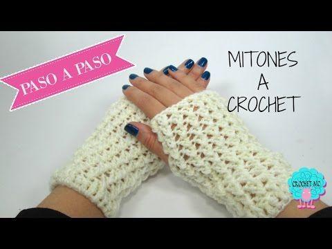 Mitones a crochet- fácil. - YouTube