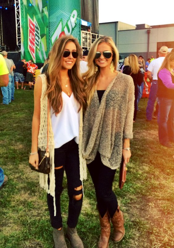 Music Festival Outfits Fashionista Pinterest Vests