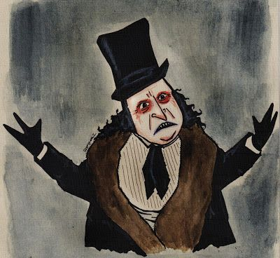 Portre Karikatür: Penguen ve Sherlock Holmes