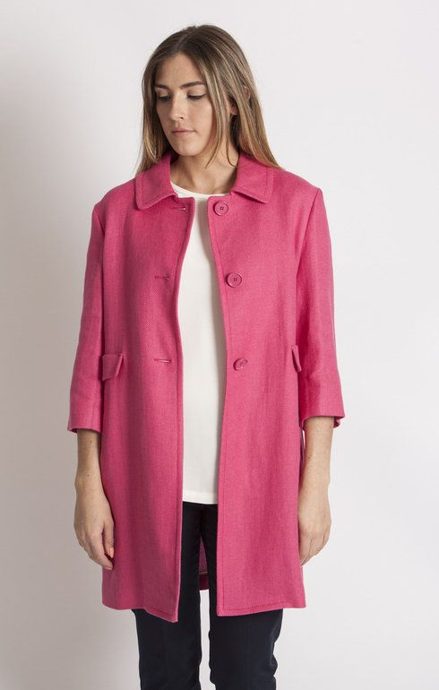 S MaxMara Murge Dark Pink Short Coat - Outerwear | SS16 S MaxMara