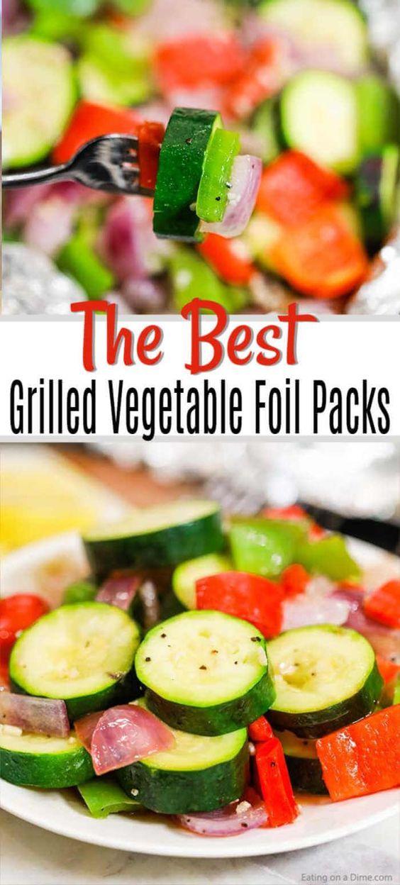 Grilled Vegetables Foil Pack
