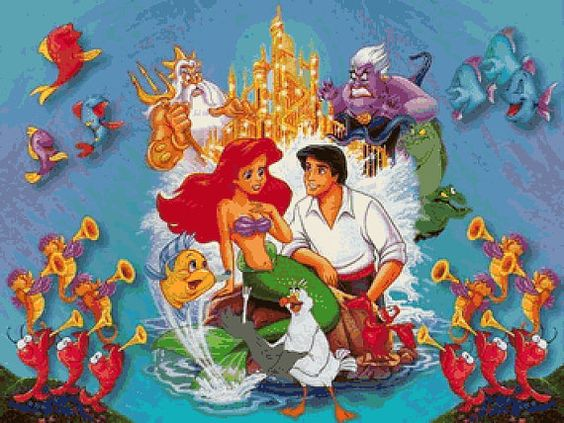 The Little Mermaid  Cross Stitch Pattern by BoutiquedeBritta, $7.60