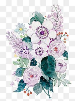 41++ Watercolor flower clipart vector information