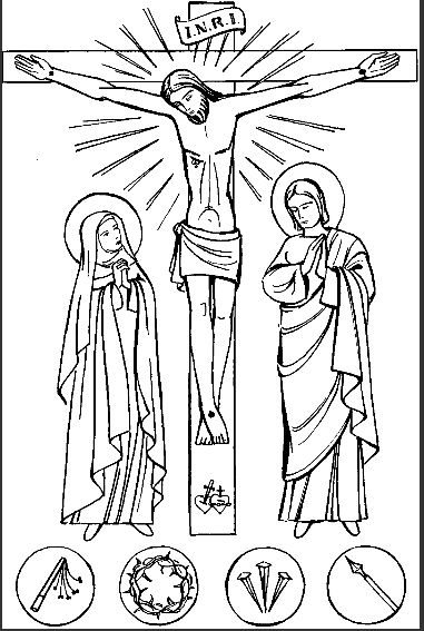 Catholic Alphabet Coloring Pages : Good friday catholic coloring page lent pinterest