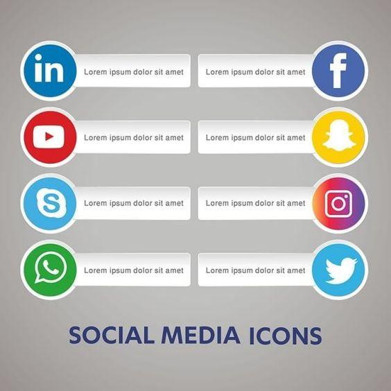 تعيين رموز الوسائط الاجتماعية مشاركة خلفية الشبكة مشاركة الرموز الرموز الاجتماعية أيقونات الشبكة Png والمتجهات للتحميل مجانا Social Media Social Media Icons Media Icon