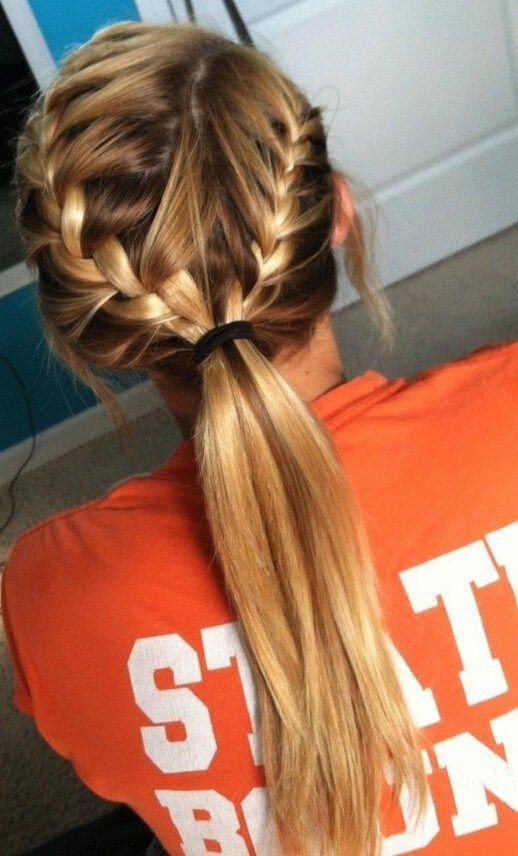 French Braid Ponytail For Kids Cute French Braid Hairstyles For Girls Halfuphalfdownpromhairstyles In 2020 Long Hair Styles Hair Styles Sporty Hairstyles