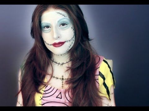 Sally from Nightmare Before Christmas Makeup Tutorial