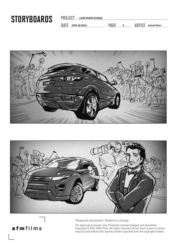 Storyboard, Range rovers and TVs on Pinterest - commercial storyboards