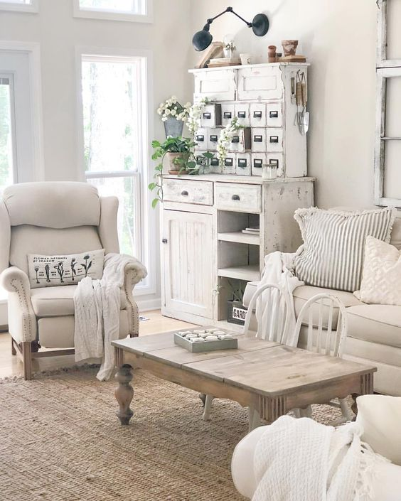 Affordable Shabby Chic Family Room