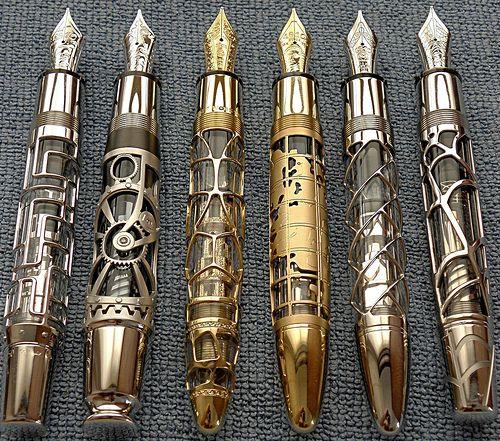 sonic screw drivers fountain pens!!! gorgeous!
