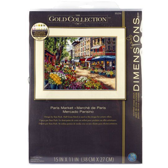 <div>This Paris market counted cross stitch design conveys all the charm and romance that is ass...