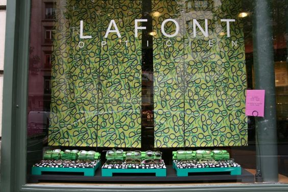 The June 2012 boutique lafont window display