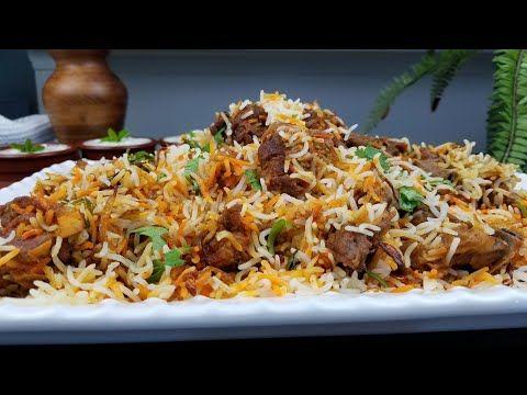 طريقة طبخ برياني لحم تيس وصفة كاملة Complete Mutton Biryani Recipe Goat Biryani Youtube Indian Food Recipes South Indian Food Biryani