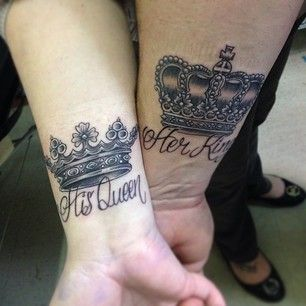 king and queen couple tattoos tattoo ideas. Black Bedroom Furniture Sets. Home Design Ideas