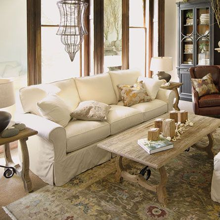 baldwin slipcovered sofa arhaus love this whole room