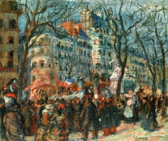 Carnival on the Grands Boulevards Artwork by Raoul Dufy Hand-painted and Art Prints on canvas for sale,you can custom the size and frame