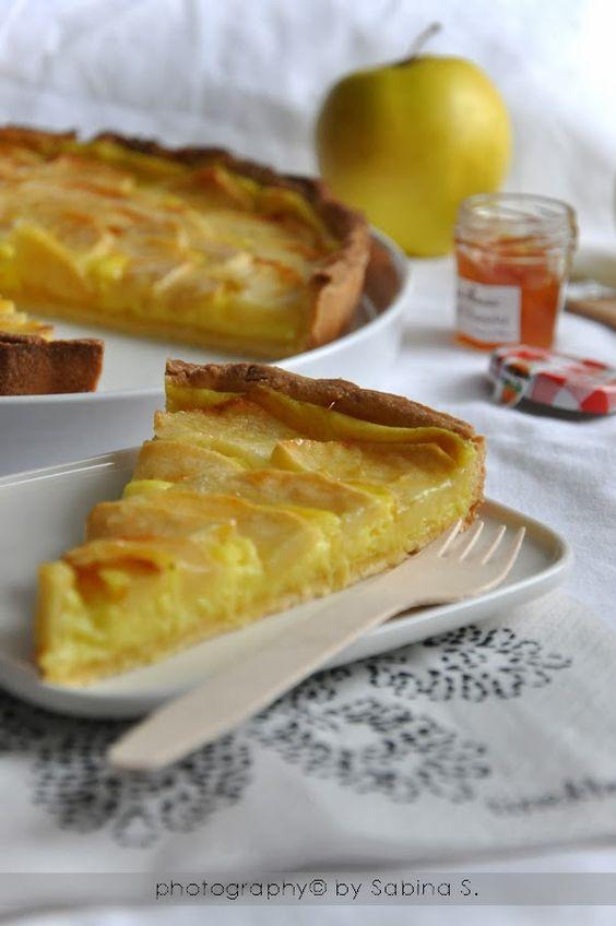 Crostata di mele con crema pasticcera ricette dolci for Crostata di mele