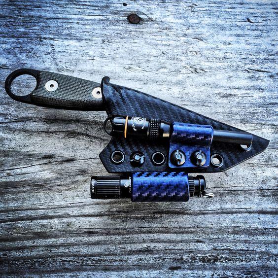 Custom ESEE Izula Sheath with Olight i3s and EXOtac ferro ...