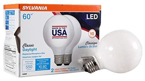 Sylvania 60 Watt Equivalent G25 Led Light Bulb Daylight Https Www Amazon Com Dp B07f7xxd3w Ref Cm Sw R Pi Dp U X Lpqg Led Light Bulb Sylvania Light Bulb