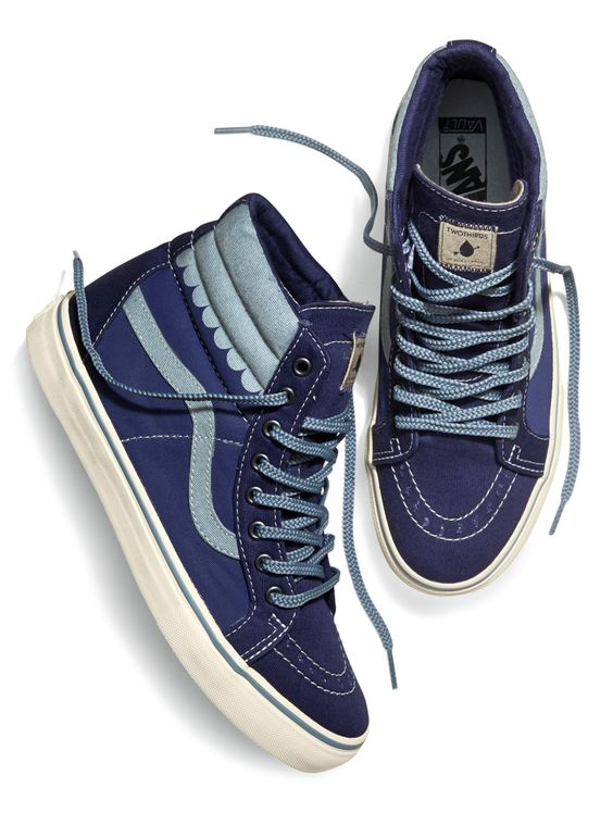TWOTHIRDS + Vault by Vans Vans SK8-Hi Reissue LX // Sentinel Sylvia Earle signature model. Wave allover print // Following TWOTHIRDS' principles, the shoes are made with water-based inks and recycled soles. #twothirdsclothing #vans #shoes #collab