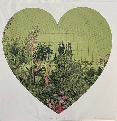 Prickly Lover Clare Halifax Art In 2020 Sunset London Art Silk Screen Printing