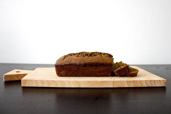 vegan matcha green tea banana bread