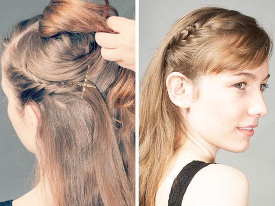 Perfect for the girl-on-the-go, this quick and easy tuck braid headband tutorial can get you out the door in a hurry.