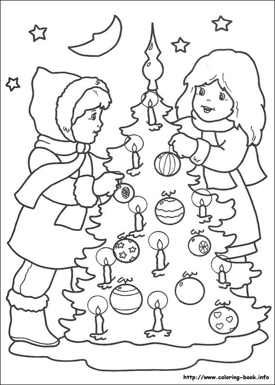 Christmas coloring picture deti maľovanky Pinterest Pictures