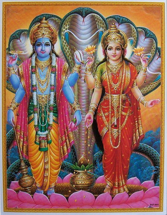 lord vishnu with laxmi - photo #6