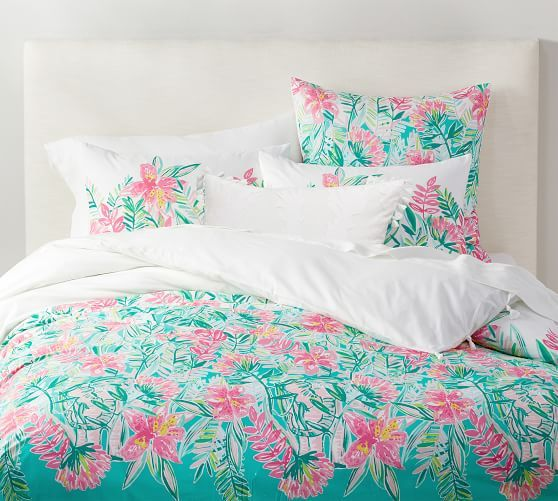 Lilly Pulitzer Jungle Lilly Duvet Cover Sham Pottery Barn