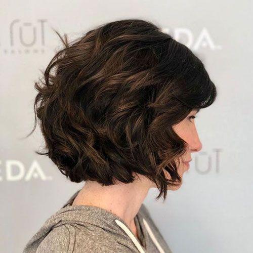 Schicke Kurze Gewellte Frisuren Fur Frauen Thick Wavy Hair Short Hairstyles For Thick Hair Thick Hair Styles