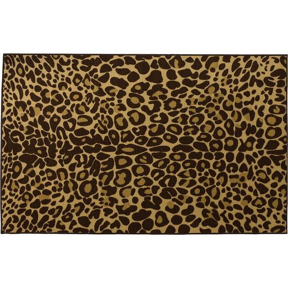 Infinity Home Kings Court Leopard Print Rug - 3'3'' x 4'7'', Gold