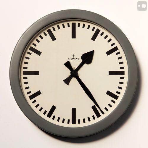 Industrial Clock, 45cm, Siemens, Germany, 1950s